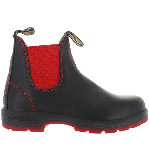 Blundstone 1316 - Black/Red Leather Pull-On Gore Boot - Size: 7
