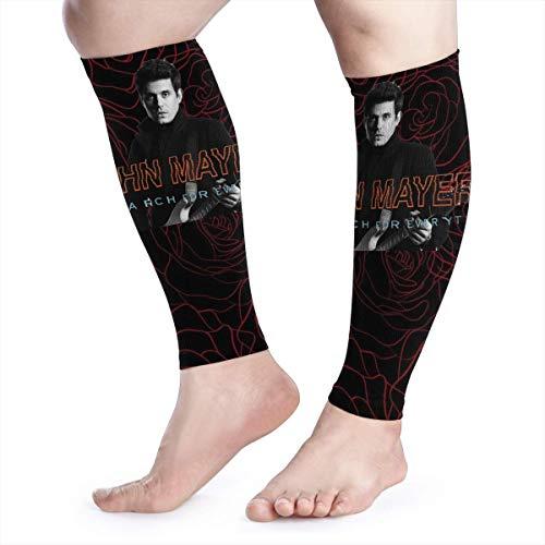 SuraphonSuphunthuchatz Unisex Women Men Sports Fashion John Mayer Music Band Fans Runners Guards Sleeves Running Calf Compression Sleeve Leg Gift