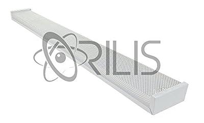 White 4 foot 4' 2-light Ceiling Light Fixture with 2x LED T8 20 Watt Tubes 40W 40 Watt Total Replacment for (4) 32W Fluorescent Bulbs- 6500K