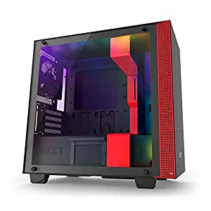 NZXT h400i Premium Micro-ATX Caso–Negro/Rojo