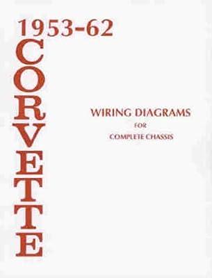 1953 1962 chevrolet corvette wiring diagram manual reprint rh amazon com