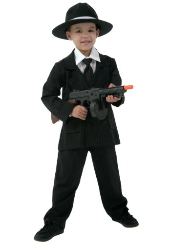 Big Boys' Deluxe Gangster Costume Suit X-Small