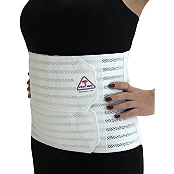 Ita-med Breathable Elastic Abdominal Binder for Women, White, XL
