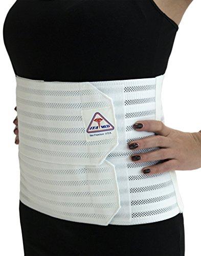 Ita-med Breathable Elastic Abdominal Binder for Women, White