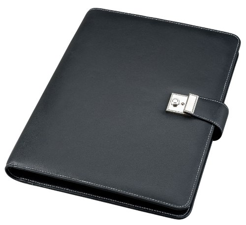 Alassio Dokumentenmappe, DIN A4, Lederimitat, schwarz