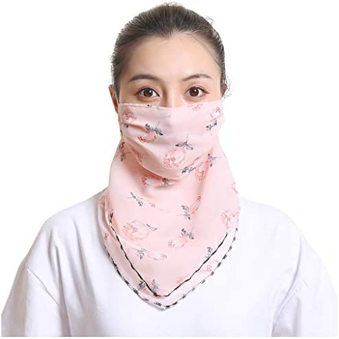 JackRuler Damen Mundschutz Halstuch Face Shield Multifunktionstuch Gesichtsmaske Sommer UV-Schutz Atmungsakti Chiffon Tuch #01