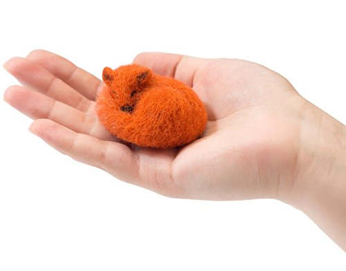 Felted Animal - The Fox - Handmade Felted Jewelry - Needlecraft Wool Pin - Vintage - Cartier Eyeglasses Mens