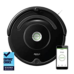 Connect to clean from anywhere with the Roomba 675 robot vacuum. The patented 3-Stage Cleaning System is specially engineered to loosen, lift, and suction everything from small particles to large debris from carpets and hard floors. Just pres...