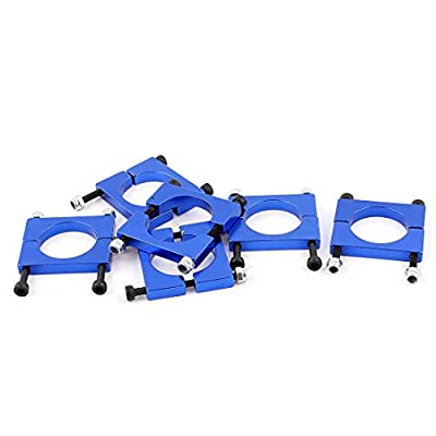 6pcs 22mm Airplane Tube Clip for Carbon Fiber Tube Quad copter Blue
