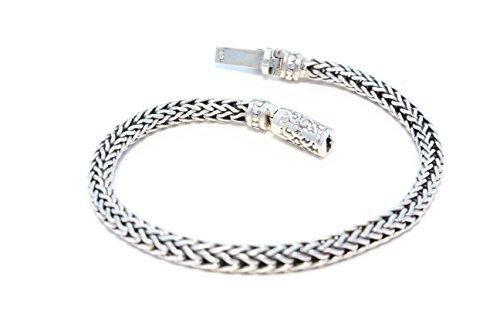 Bracelet en Argent Fin avec décoration de fermeture