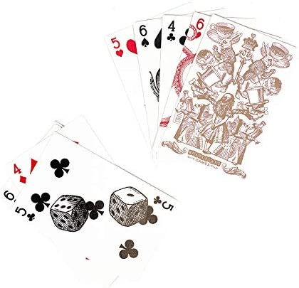 Professor PUZZLE The Queen/'s Guard Giant Playing Cards Alice in Wonderland themed jumbo playing cards for all card games Wonderland Games