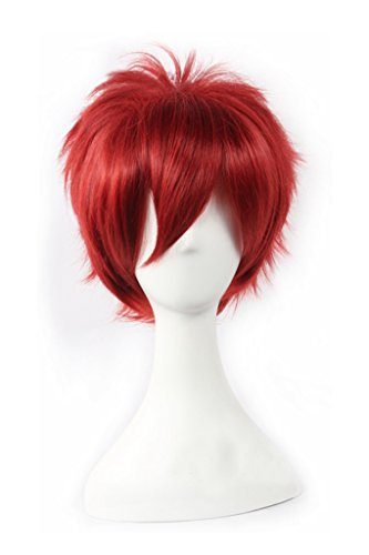 - DAZCOS Sabaku No Gaara Akashi Seijyuurou Cosplay Wig Red Short Hair (Red)