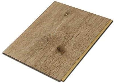 White Aspen Wood Grain Sample Size 5-3//4 L x 7 1//8 W x 7mm H Cali Bamboo Extra Wide Cali Vinyl Plus Cork-Backed Vinyl Floor
