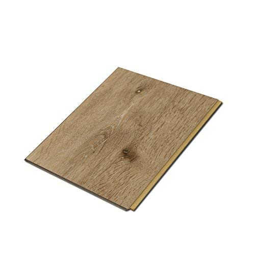 "Cali Bamboo - Cali Vinyl Plus Cork-Backed Vinyl Floor, Extra Wide, Aged Hickory Wood Grain - Sample Size 5-3/4"" L x 7 1/8"" W x 7mm H"