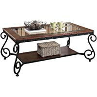ACME Waneta Brown Cherry Coffee Table