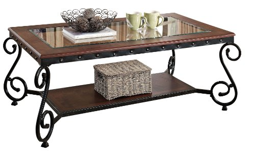 ACME Waneta Brown Cherry Coffee Table (Country Coffee Table Cherry)