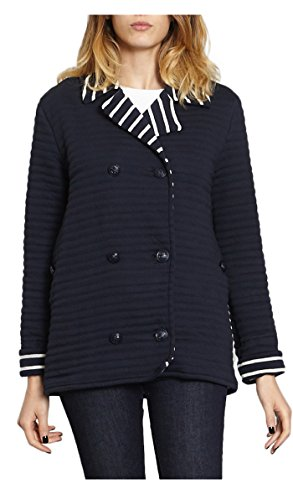Petit Bateau Striped Jacket - Women - L - Blue