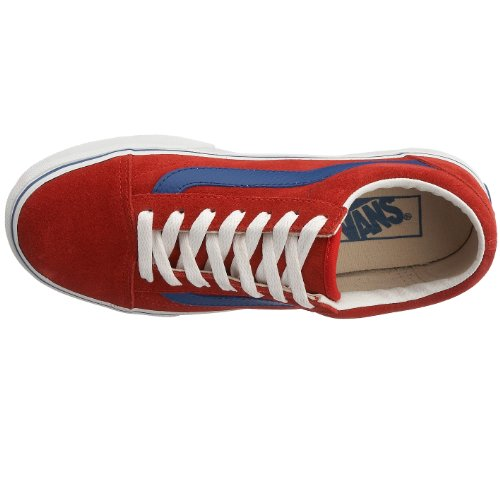 Vans Old Skool, Zapatillas Unisex Adulto Rojo (High Risk Red/Classic Blue)