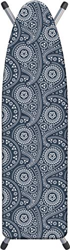 "Laundry Solutions by Westex All-In-One Paisley Triple Layer Deluxe Extra Thick Ironing Board Cover & Pad, 15"" x 54"""