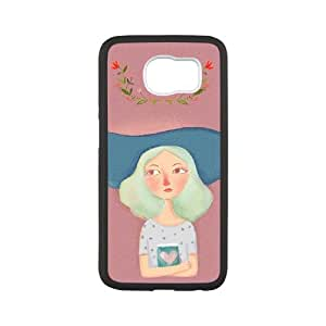 Good Phone Case With High Quality Illustration Girl Pattern On Back - Samsung Galaxy S6