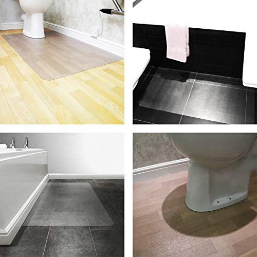 Hometex Biosafe, Anti Microbial Toilet Floor Mat, Rectangular with Cut Out,  48