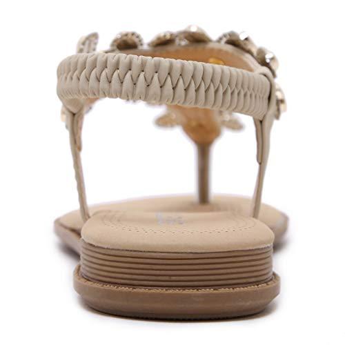 Plage Et Beige Piscine Chic Chaussons Compensées Ville Chaussures De Tong À Sandalettes Talons Sandales Plates Femmes Été Plats Manadlian qxZwwa4U