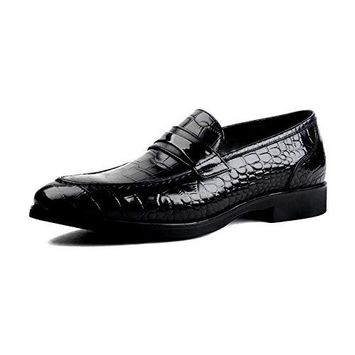 NIUMT Scarpe da Sposa da Uomo alla Moda in Stile Tendenza Trendless Scarpe Pigri Eleganti E Comode Black