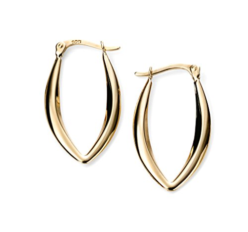 Elements Marquise Or jaune 9Ct Or Boucles d'oreilles