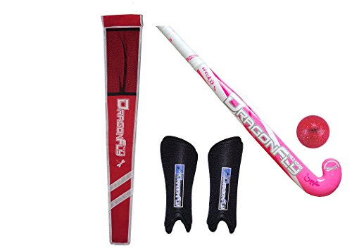 Dragonfly Mystique Gecko Field Hockey Stick Bundle (Pink, 32 Inches) (Dragon Gecko)