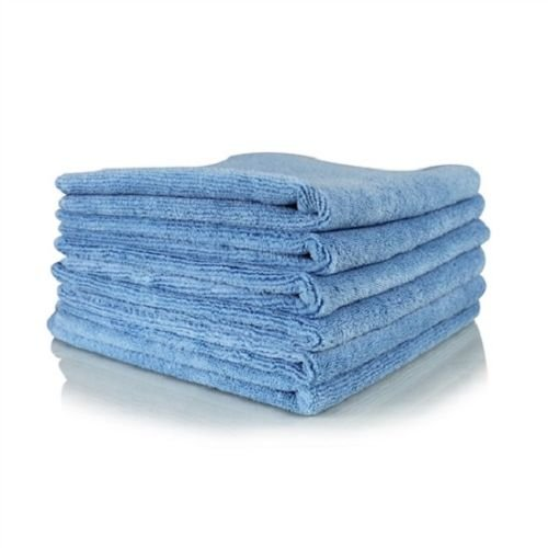 GHP 288-Pcs 16''x16'' 300 GSM Blue Absorbent Microfiber Plush Cleaning Towels