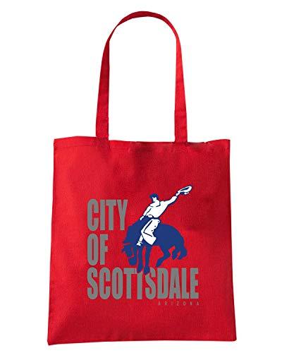 Speed Shirt Borsa Shopper Rossa TM0064 CITY OF SCOTTSDALE CITTA