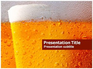 amazon com beer bubbles powerpoint template beer glass background