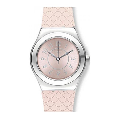Swatch Irony Coco Ho Pink Dial Silicone Strap Ladies Watch YLZ101