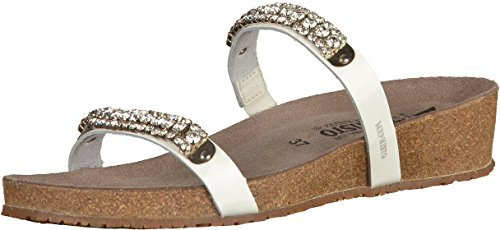 Mephisto Womens Ivana Leather Sandals blanco