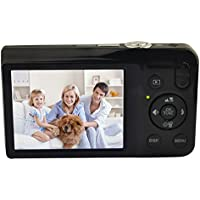 KINGEAR V100 2.7 Inch TFT Color LCD Screen 15MP 720P HD Anti-shake Smile Capture Digital Video Camera With 5X Optical Zoom 4X Digital Zoom-Black