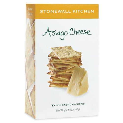Stonewall Kitchen Asiago Cheese Crackers, 5 Ounce Box -