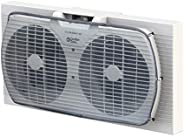 Comfort Zone CZ319WT 9-inch Twin Window Fan with Manual Reversible Airflow Control, Auto-Locking Expanders and