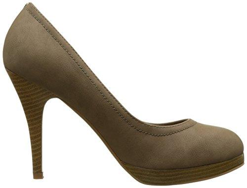 Escarpins femme taupes à talon de 11 cm et plateforme de 1,5cm
