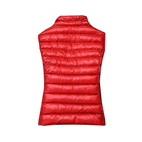 Ultra Leggero Senza Esterna Gladiolusa Rosso Maniche Packable Giubbotto Donne Palla Cappotto Giacca Grigia Pesce Delle rrZSWgqU4