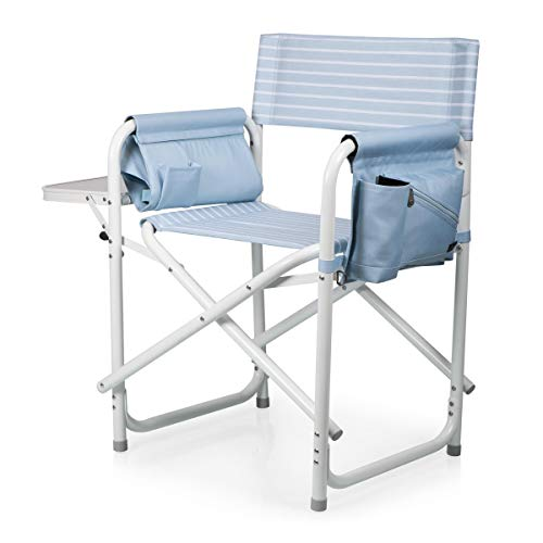 (ONIVA - a Picnic Time Brand Outdoor Directors Folding Chair, Mod Denim Stripe)