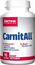 Jarrow Formulas CarnitAll, Supports Muscular and Cardiovascular Health, 90 Caps