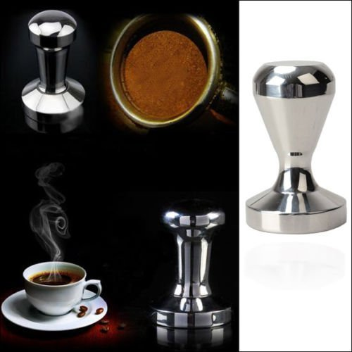 EconoLed 51mm / 2 Inch Base Premium Barista Coffee Tamper, Stainless Steel US Seller