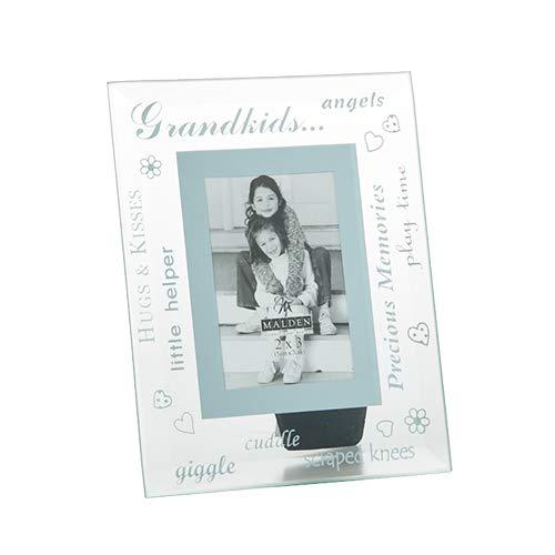 Malden - 2x3 Glass Beveled Grandkids Picture Frame (Malden Mirror Photo Frames)