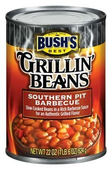 Bush's Best, Grillin' Beans, Southern Pit Barbecue, 22oz Can (Pack of 6) (Best Barbecue Baked Beans)