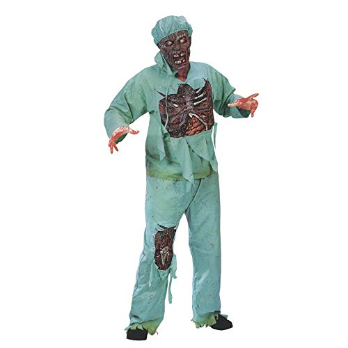 Plus Size Zombie Nurse Costume (Fun World Mens Plus Size Zombie Doctor)
