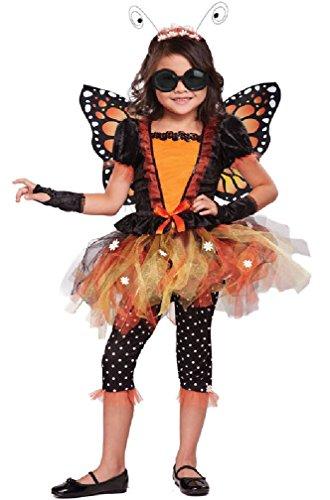 [8eighteen Magnificent Monarch Butterfly Child Costume] (Blue Monarch Butterfly Costume)