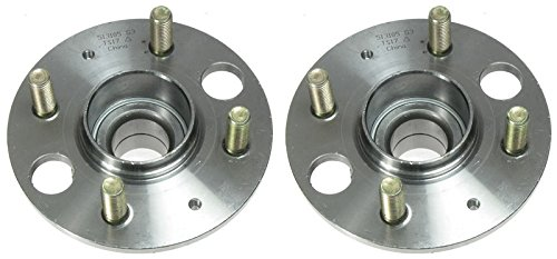 Rear Wheel Hub & Bearing Assembly Pair Set for Acura Integra Honda Civic Civic Del Sol (Wheel Integra Acura Bearing)