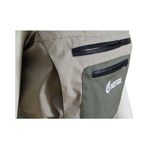 Men 39 s breathable fly fishing waders waterproof chest for Men s fishing waders