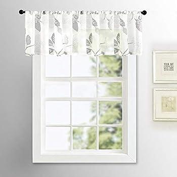 Amazon Com Semi Sheer Valance Curtains 16 Inch Length