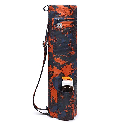 - ELENTURE Full-Zip Exercise Yoga Mat Carry Bag with Multi-Functional Storage Pockets (380T Camouflage)